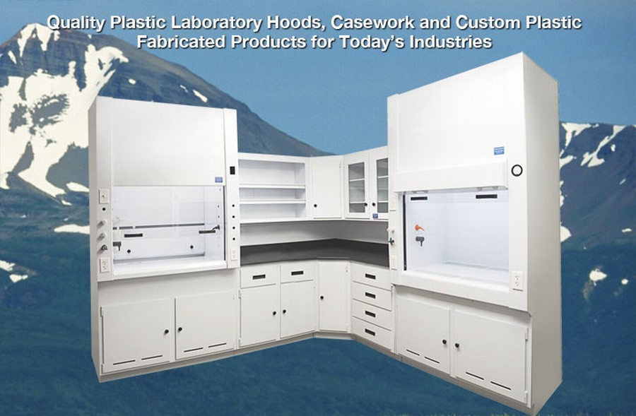 Polypropylene casework and fume hoods